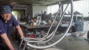 Rozsdamentes szék váz