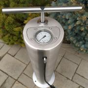 Szálcsiszolt rozsdamentes köztéri kerékpár pumpa
